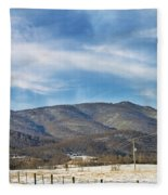 Snowy High Peak Mountain Fleece Blanket
