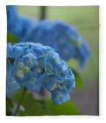Soft Blue Hydrangea Fleece Blanket