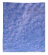 Soft Clouds In The Blue Sky Fleece Blanket
