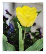 Soft Yellow Fleece Blanket