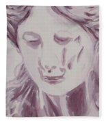 Sorrow - Triptych Panel 1 Fleece Blanket