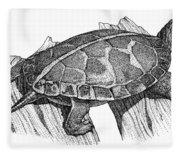 Southern Painted Turtle Fleece Blanket