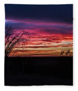 Southwest Sunset Fleece Blanket