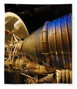 Space Rocket Thrust Engine Fleece Blanket