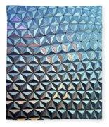 Spaceship Earth Fleece Blanket