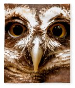 Spectacled Owl  Fleece Blanket