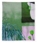 Spider Plant - Green Tulips - Still Life Fleece Blanket