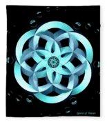 Spirit Of Water 1 - Blue With Water Drops Fleece Blanket