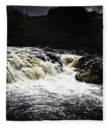 Splashing Australian Water Stream Or Waterfall Fleece Blanket