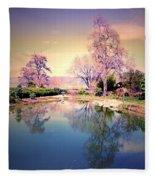 Spring In The Gardens Fleece Blanket