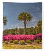 Spring Time In Charleston Fleece Blanket