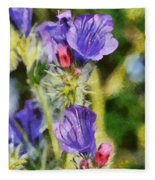 Spring Wild Flower Fleece Blanket
