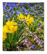 Spring Wildflowers Fleece Blanket