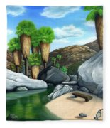 Springtime In The Canyons Fleece Blanket