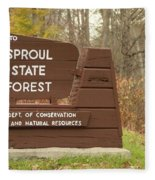 Sproul State Forest Fleece Blanket