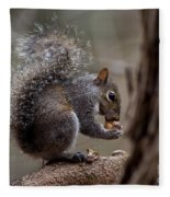Squirrel II Fleece Blanket