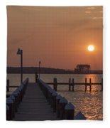 St Marys County Maryland Sunrise Fleece Blanket