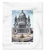 St. Paul Cathedral - London - 1792 Fleece Blanket