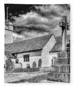 St Sannans Church Bedwellty 2 Mono Fleece Blanket
