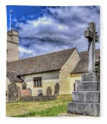 St Sannans Church Bedwellty 2 Fleece Blanket