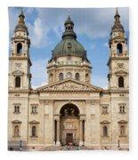 St. Stephen's Basilica In Budapest Fleece Blanket