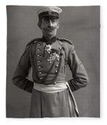 Stage German Officer Fleece Blanket