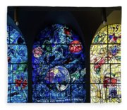 Stained Glass Chagall Windows Fleece Blanket