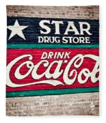 Star Drug Store Wall Sign Fleece Blanket