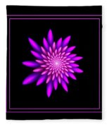 Starburst-32 Framed Black And Pink Fleece Blanket