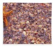 Starfish On The Beach, Lovers Key State Fleece Blanket