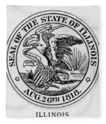 State Seal Illinois Fleece Blanket