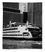 Staten Island Ferry Fleece Blanket