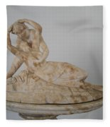 Statue In The Temple Of Good Will Fleece Blanket
