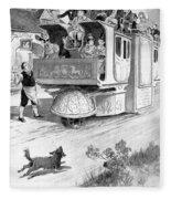 Steam Carriage, 1832 Fleece Blanket