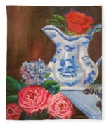 Rose And Pitcher Jenny Lee Discount Fleece Blanket