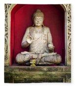Stone Statue Of Buddha In Bali Indonesia Fleece Blanket