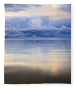 Storm Clouds And Lake Winnipeg At Fleece Blanket