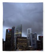Stormy Singapore Fleece Blanket
