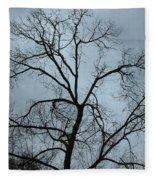 Stormy Trees Fleece Blanket