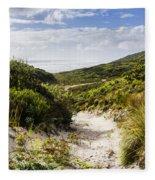 Strahan Coast Landscape Winding To The Ocean Fleece Blanket