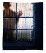 Stranger At The Window Fleece Blanket