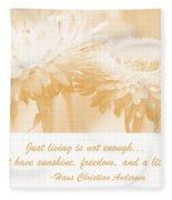 Strawflowers Fleece Blanket