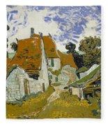 Street In Auvers-sur-oise Fleece Blanket