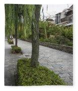 Street In Kyoto Japan Fleece Blanket