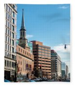 Streets Of Washington Dc Usa Fleece Blanket