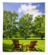Summer Relaxing Fleece Blanket