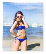 Sun Sand And Sea Leisure Fleece Blanket