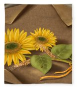 Sunflowers Fleece Blanket