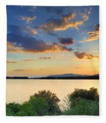 Sunrays At The Lake Fleece Blanket