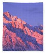 Sunrise At 14,494 Feet, Mount Whitney Fleece Blanket